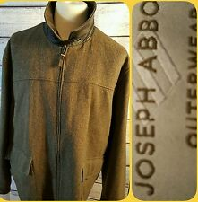 JOSEPH ABBOUD GORGEOUS WOOL SWEATER WITH LEATHER TRIMS 2XL