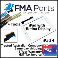 White iPad 4 with Retina display Touch Screen Glass Digitizer Front Replacement
