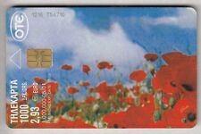 EUROPE  TELECARTE / PHONECARD .. GRECE 2€93 FLEUR FLOWER 05/01 CHIP/PUCE