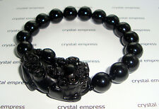 Feng Shui - 2015 Black Onyx Pi Yao Bracelet (12mm beads)