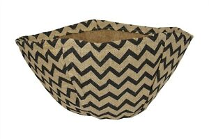 """Zig Zag Hanging Basket Hessian Coco  Liner Made from Natural Material 14"""" 35cm"""