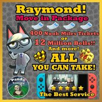 Animal Crossing New Horizons Raymond ✨ FREE ALL-You-Can-Take ✨ 100% REAL 🔥 FAST
