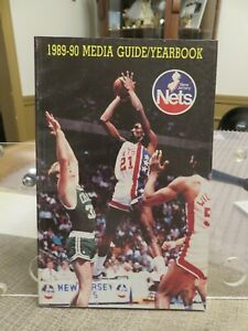 NEW JERSEY NETS 1989-1990 MEDIA GUIDE/YEARBOOK