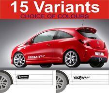 vauxhall corsa decals stickers GSI VXR SXI SRI 2off graphics 15 designs