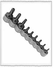 Torx Tamper Resistant Drivers 9 Pc T10, T15, T20, T25, T27, T30, T40, T45, T50,