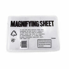 "New Lot of 2 Large Full Page Reading Magnifying Sheet 2x Power Magnifier 7""x 10"""