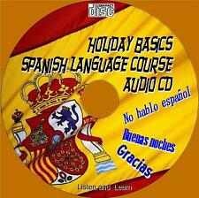 HOLIDAY BASICS SPANISH LANGUAGE LESSONS EASY LISTEN REPEAT & LEARN AUDIO CD NEW