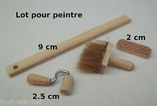 outils de peintre,tapissier,miniature,maison de poupée,vitrine,peinture  *CL7