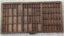 Hamilton Antique Drawer Printer Tray letterpress typeset wood shadow box shelf