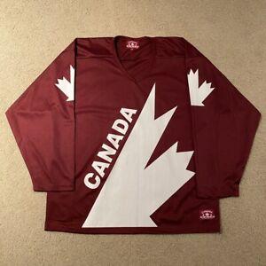 Team Canada 2010 Hockey Jersey Canada Athletics Maroon White Large