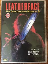 LEATHERFACE - MASSACRE À LA Tronçonneuse 3 Gory 1990 Horreur GB DVD III
