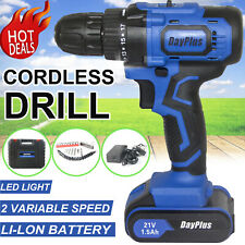 Rechargeable Wireless Cordless Electric Screwdriver Drill Kit Power Tool 21V