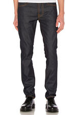 NUDIE JEANS Tilted Tor Dry Pure Navy W33 L32 Men's Denim Jeans Pants Slim Fitted