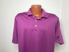 Mens Adidas ClimaLite S/S Polo/Golf Shirt Large (L) Purple - Polyester