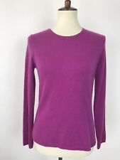 Charter Club Cashmere Women Sz S Sweater Crew Neck Pullover Purple FLAW