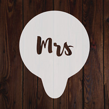 Mrs mylar stencil wedding anniversary present cake baking decorating painting