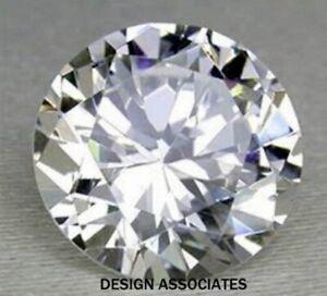WHITE SAPPHIRE 8 MM ROUND CUT ALL NATURAL DIAMOND COLOR