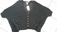 Ladies NWT Alberto Makali Sweater crochet knit swing top size Small green