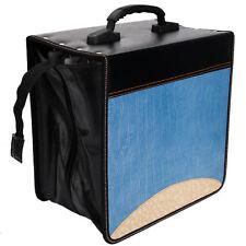 520 Disc CD DVD Storage Bag Holder Organizer Viedo Media Case Blue & Brown New