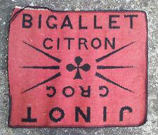 Ancien tapis de carte Jinot et Bigallet, publicitaire vintage, French antique