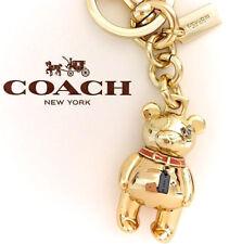 COACH Handbag Gold 3D Bear Keychain Metal Fob Purse Charm F87166 NWT $80.00