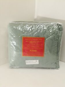 100% Egyptian Cotton Sheets Set, 400 Thread Count Sateen Collection, Green, King