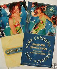 "Gloria Estefan ""Alma Caribena-Caribbean Soul"" 2-Sided U.S. Promo Poster /Banner"