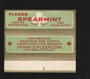 Advertising chewing gum wrapper label --- FRANK H. FLEER Philadelphia 1930's