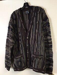 Vintage COOGI Cardigan Sweater Australia Button Down Pure Wool Size XL