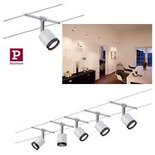 Paulmann SeilSystem Tube LED 5x4W Weiß/Schwarz KomplettSet 5 Spots Leuchtmittel