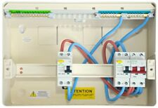 Danson Metal Consumer Unit Split Load with Dual RCD's + Main Switch 6 Way (3+3)