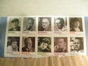 Scott # 4663a, Twentieth Century Poets - Block of 10 Forever Stamps - 2012 - MNH