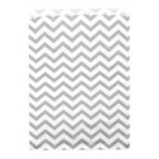 """500 Silver Chevron Merchandise Retail Party Favor Paper Gift Bags 6"""" x 9"""" Tall"""