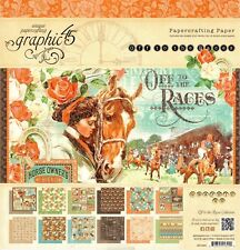 Graphic 45 Off to the Races 12x12 Paper Pad