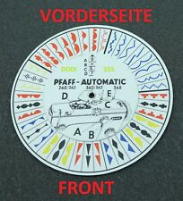 Pfaff, template, disc for models / types 260, 262, 360, 362 and 368, new.