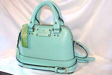NWT Kate Spade Mini Rachelle Wellesley Fresh air blue leather, Crossbody purse