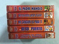 MANOLO ESCOBAR COLECCION DE 5 PELICULAS EN VHS CINTA UN BESO EN EL PUERTO PADRE