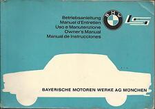 BMW 700 LS Lusso Manuale di istruzioni 1962 OWNER'S MANUAL MANUEL D'ENTRETIEN BA