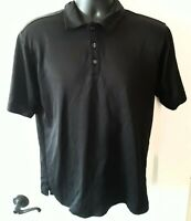 NIKE  Sphere Dry Short Sleeve Golf Polo Black Shirt Men's Size Medium