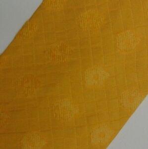 Solid Yellow Floral PAL ZILERI Silk Blend Tie