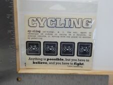 SRM STICKERS CYCLING BICYCLE QOUTE DEFINITION CLASSIC STICKERS A11249