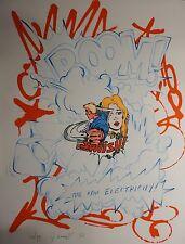 "John Matos ""Crash"" Raw Electricity Hand Signed Numbered Serigraph"