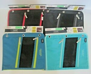 """Mead Five Star Pencil Pouch for Binders 3 Zippered Compartments 11"""" x 8 3/4"""" New"""