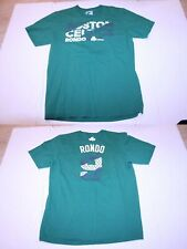 Men's Boston Celtics Rajon Rondo L Jersey T-Shirt Tee (Green) Adidas