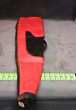 Red head Shotgun Case Gun Slip Storage Bag Real Leather Hunting Vintage Antique