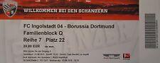 TICKET 2015/16 FC Ingolstadt 04 - Borussia Dortmund