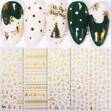 Christmas Gold 3D Nail Stickers Snowflake Nail Art Diy Decoration Decals