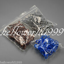 50 Pcs Disposable Cotton Roll Holder Bluegraybrown Clip Dental Clinic Isolator
