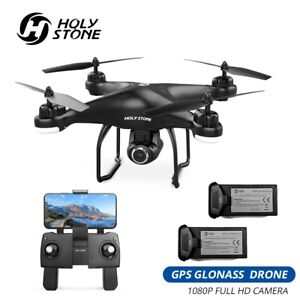 Holy Stone HS120D GPS Drone with Camera 1080P FPV RC Quadcopter 2 Battery Selfie