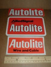 3 Autolite Spark plug Wire & Cable Allied Signal vtg drag racing decal stickers